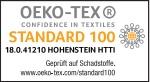 OEKO-TEX-Zertifikat. Viele Produkte sind bereits nach der höchsten Produktklasse zertifiziert.