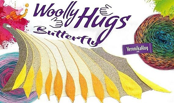 Butterfly Bobbel Woolly Hugs - Veronika Hug | Wollstudio