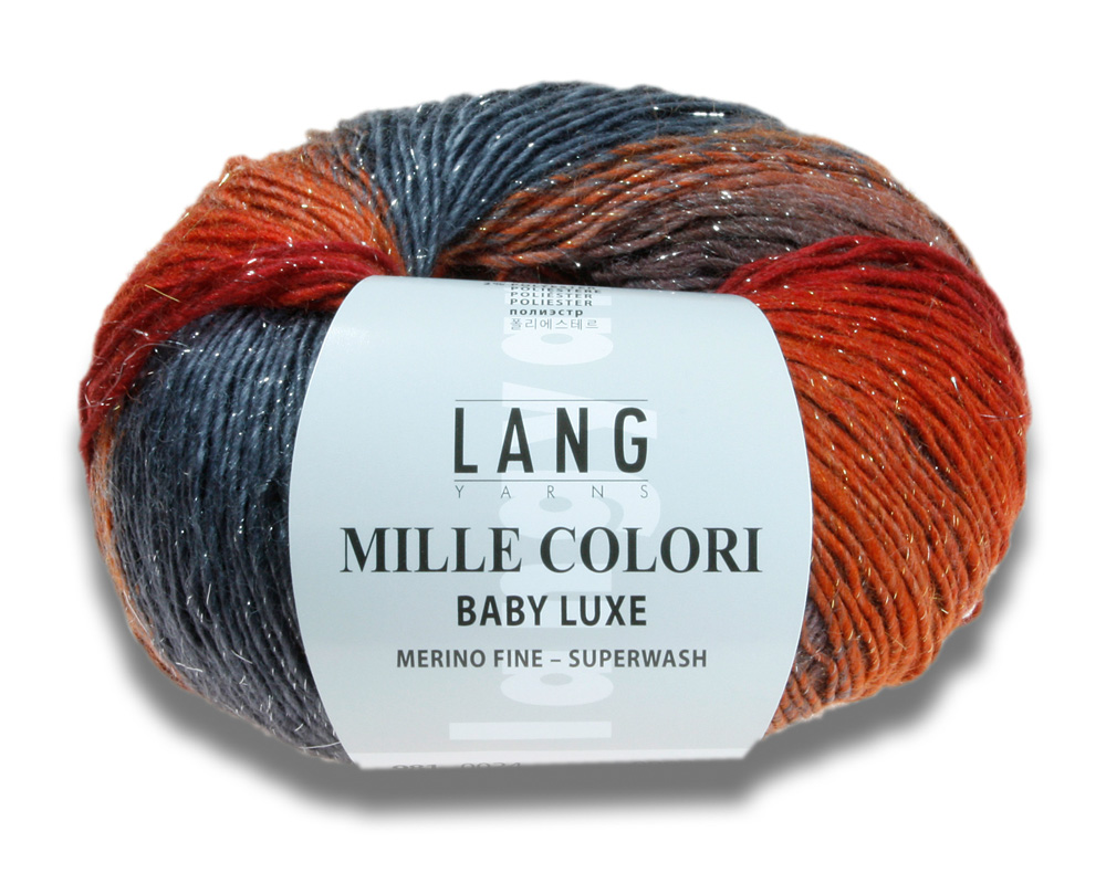 MILLE COLORI BABY LUXE 50g Lang Yarns Lichtpunkte wie Sterne alle Farben
