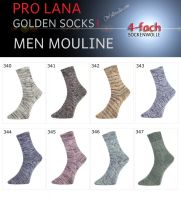 Men Color Golden Socks Pro Lana
