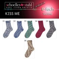 Sockina Kiss me Color Schoeller Stahl